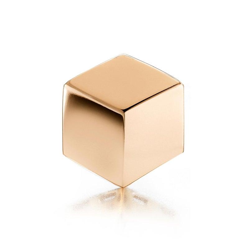 Contemporary Paolo Costagli 18 Karat Rose Gold Brillante Stud Earrings