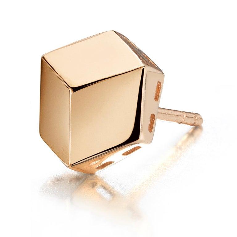 Paolo Costagli 18 Karat Rose Gold Brillante Stud Earrings In New Condition In Miami beach, FL