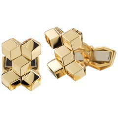Paolo Costagli 18 Karat Yellow Gold Brillante Cufflink Set, Petite