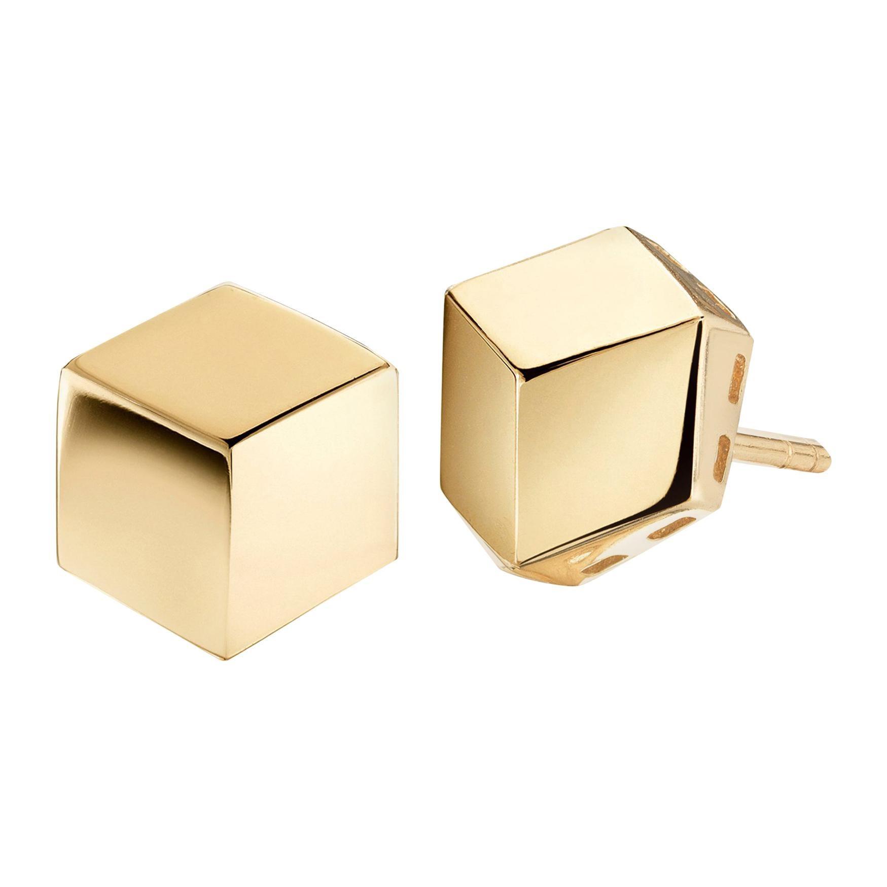 Paolo Costagli 18 Karat Yellow Gold Brillante Stud Earrings, Grande