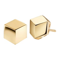 Paolo Costagli 18 Karat Yellow Gold Brillante Stud Earrings, Grande