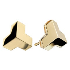 Paolo Costagli 18 Karat Yellow Gold 'Brillantissimo' Stud Earrings, Petite