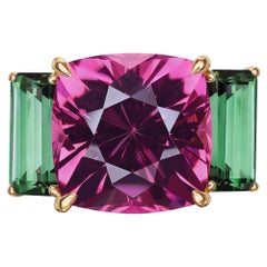 Paolo Costagli Change of Color Tourmaline and Green Tourmaline Ring