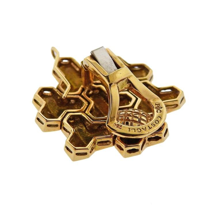 Women's or Men's Paolo Costagli Geometric Gold Earrings For Sale