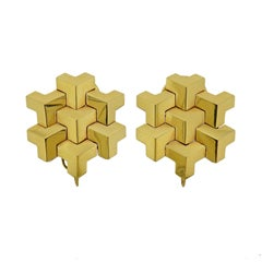 Paolo Costagli Geometric Gold Earrings