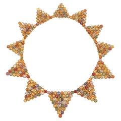 Paolo Costagli Multi Colored Sapphire Necklace