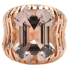 Paolo Costagli Prosecco Tourmaline and Diamond 18 Karat Rose Gold Ring
