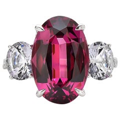 Paolo Costagli Rhodolite Garnet and White Spinel 18 Karat White Gold Ring