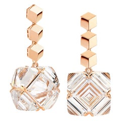 Paolo Costagli Rose Gold White Topaz Very PC Earrings