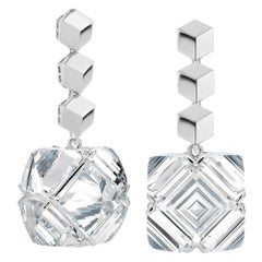 Paolo Costagli White Gold White Topaz Very PC Earrings