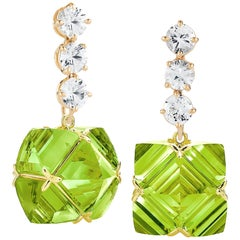 Paolo Costagli White Sapphire and Peridot Very PC Earrings