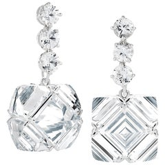 Paolo Costagli White Topaz and Sapphire Very PC Earrings