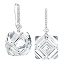 Paolo Costagli White Topaz and White Sapphire Very PC Earrings with Diamonds