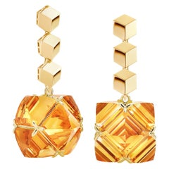 Paolo Costagli Yellow Gold Citrine Very PC Earrings
