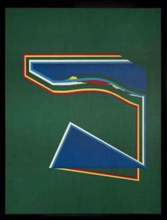 Geometric Figures - Original Lithograph by Paolo Cotani - 1970s
