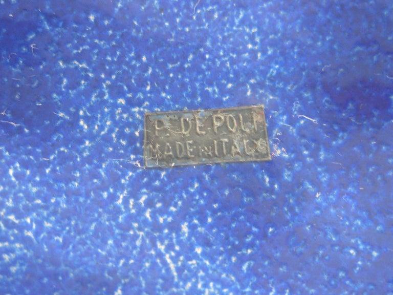 Paolo De Poli Enamel on Copper Monumental Brutalist Bowl Gio Ponti Attributed For Sale 13