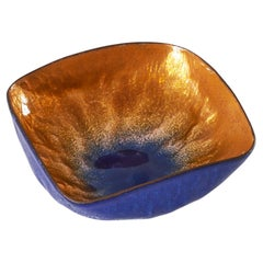 Paolo de Poli Hand Signed Bowl in Enameled Copper