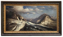 Winter Landscape  -Paolo De Robertis Italian Landscape Oil on Canvas Painting