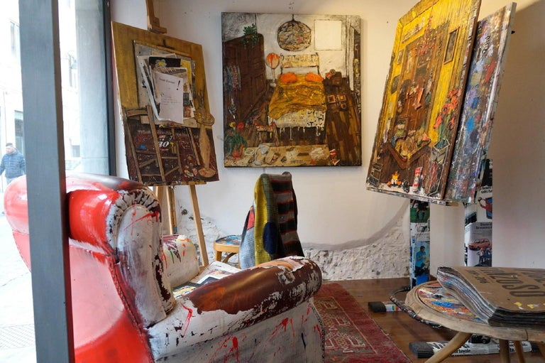 My bedroom. Paolo Franzoso, 21st Century Italian Contemporary, Interior Painting For Sale 5