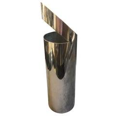 Paolo Gatti Modernist Silver Plated Italian Vase, circa 1970