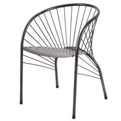 "Paolo Pallucco ""Lizie"" Iron Designer Armchair 1984, Original Piece of Modern Art"