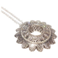 Paolo Piovan Diamonds 18 Karat White Gold Necklace