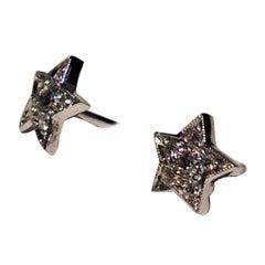 Paolo Piovan Diamonds White Gold Star 18 Karat white gold Earrings
