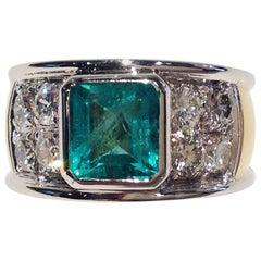 Paolo Piovan Emerald Natural White Diamonds Golden Ring