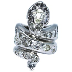 Paolo Piovan Gioielli Diamond Snake Ring