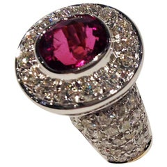 Paolo Piovan Ruby Natural White Diamonds Golden Ring