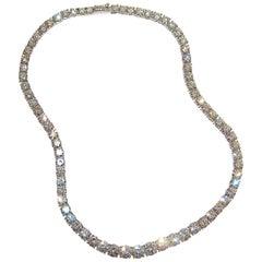 Paolo Piovan White Diamonds Platinum Tennis Necklace