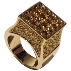 Paolo Piovan Yellow Diamonds Cocktail Ring