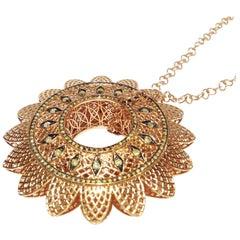 Paolo Piovan Diamonds 18 Karat Yellow Gold Necklace