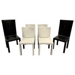 Paolo Piva Arcadia Leather Dining Chairs for B&B Italia