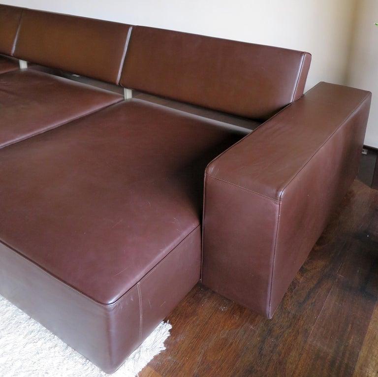 Paolo Piva Italian Modern Leather Sofa Model Andy for B&B Italia, 2002 For Sale 4