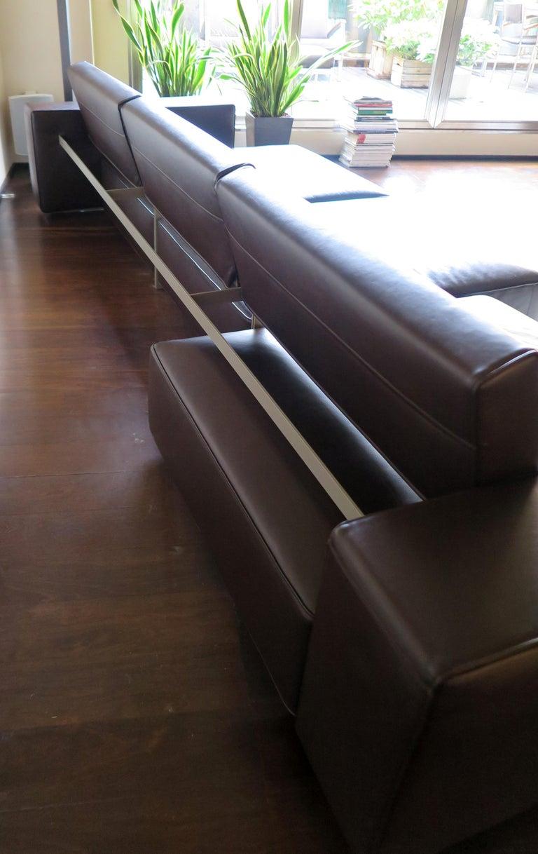 Paolo Piva Italian Modern Leather Sofa Model Andy for B&B Italia, 2002 For Sale 5