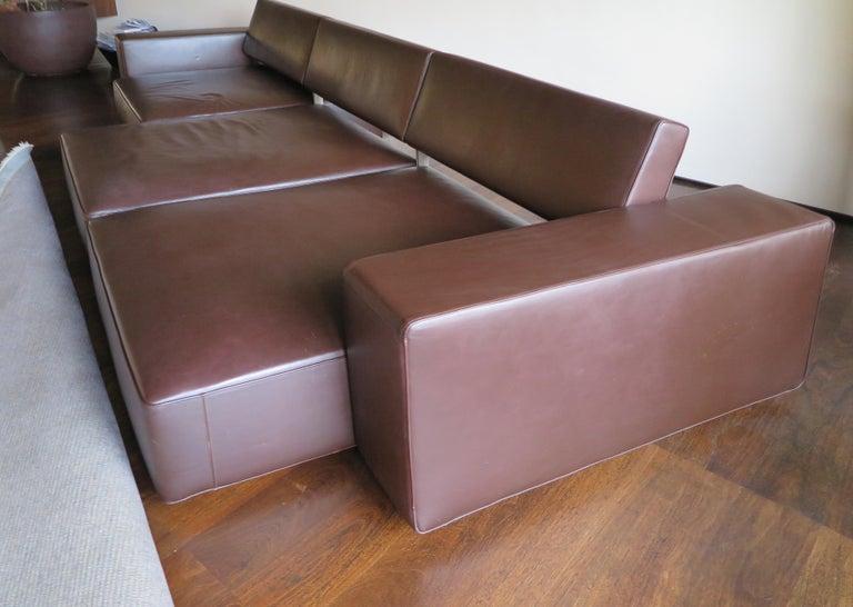Paolo Piva Italian Modern Leather Sofa Model Andy for B&B Italia, 2002 For Sale 6