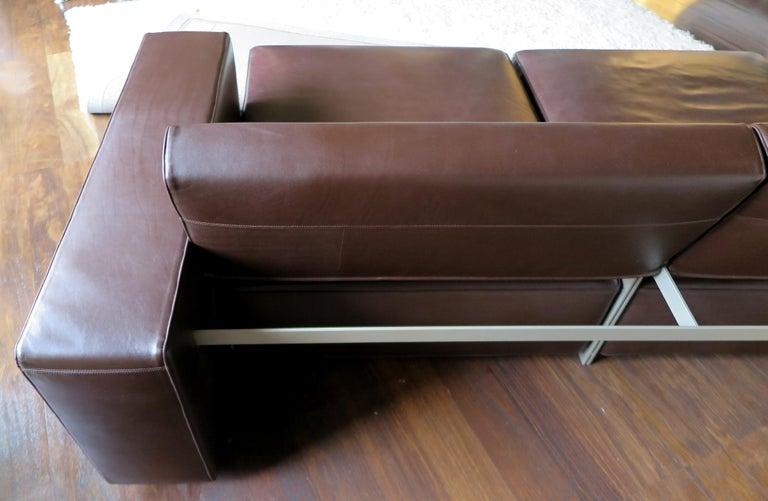 Paolo Piva Italian Modern Leather Sofa Model Andy for B&B Italia, 2002 For Sale 7