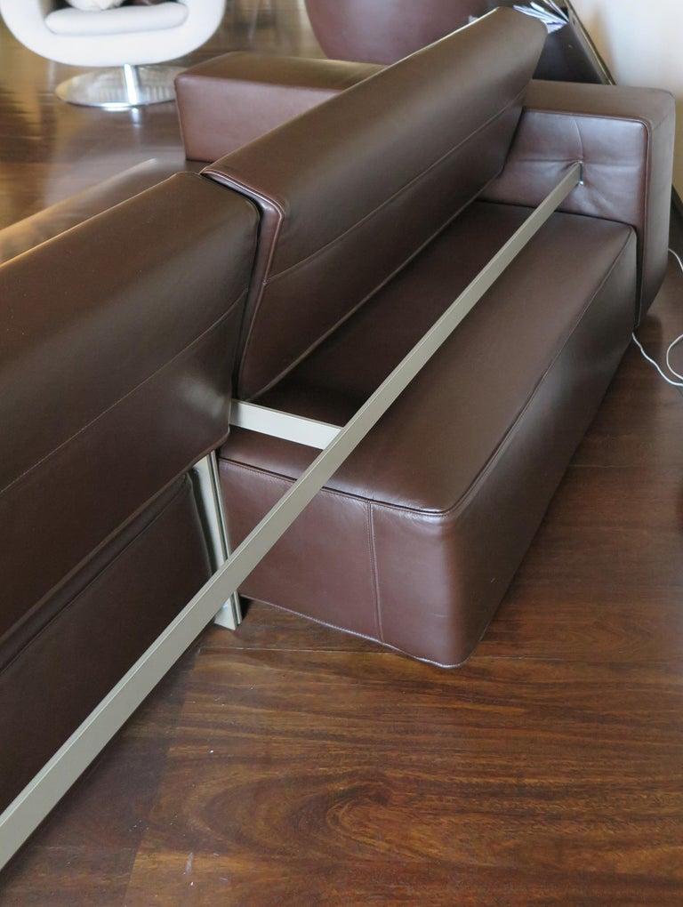Paolo Piva Italian Modern Leather Sofa Model Andy for B&B Italia, 2002 For Sale 8
