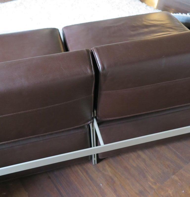 Paolo Piva Italian Modern Leather Sofa Model Andy for B&B Italia, 2002 For Sale 9