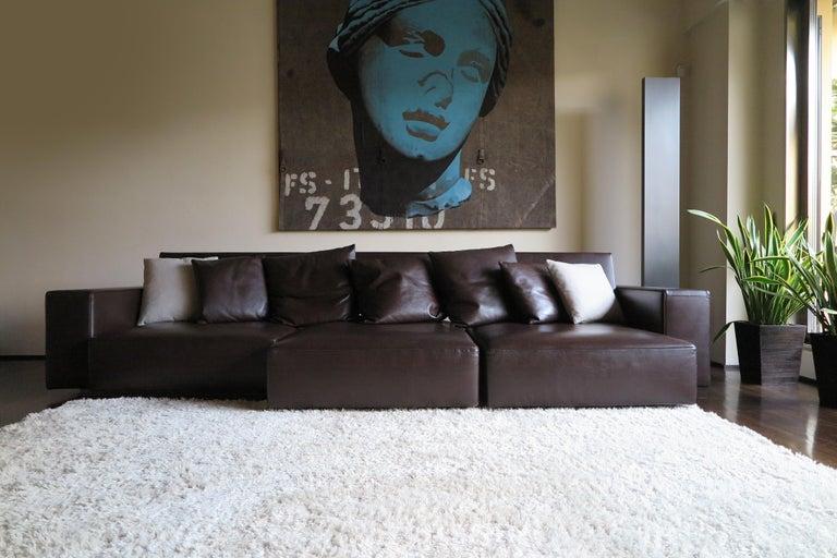 Post-Modern Paolo Piva Italian Modern Leather Sofa Model Andy for B&B Italia, 2002 For Sale