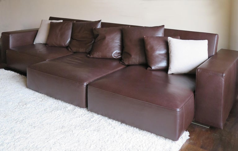 Paolo Piva Italian Modern Leather Sofa Model Andy for B&B Italia, 2002 In Good Condition For Sale In Modena, IT