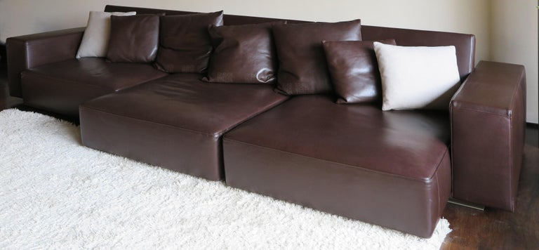 Early 20th Century Paolo Piva Italian Modern Leather Sofa Model Andy for B&B Italia, 2002 For Sale