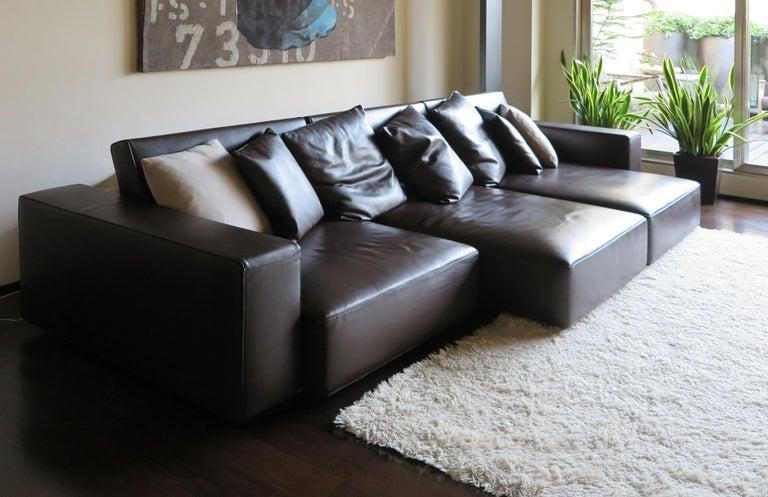 Metal Paolo Piva Italian Modern Leather Sofa Model Andy for B&B Italia, 2002 For Sale