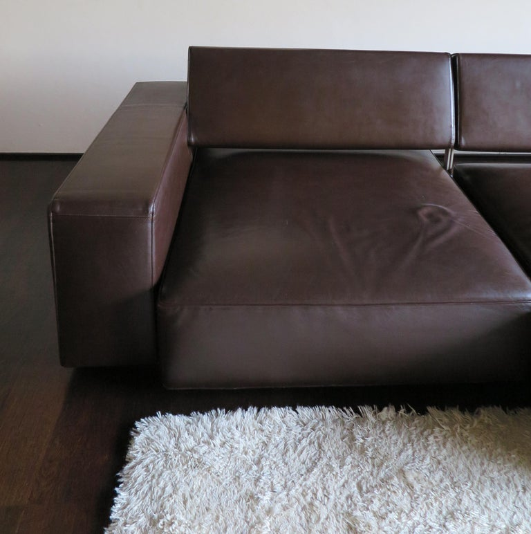 Paolo Piva Italian Modern Leather Sofa Model Andy for B&B Italia, 2002 For Sale 1