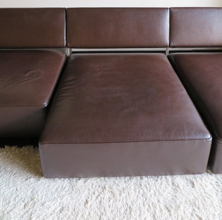 Paolo Piva Italian Modern Leather Sofa Model Andy for B&B Italia, 2002 For Sale 2