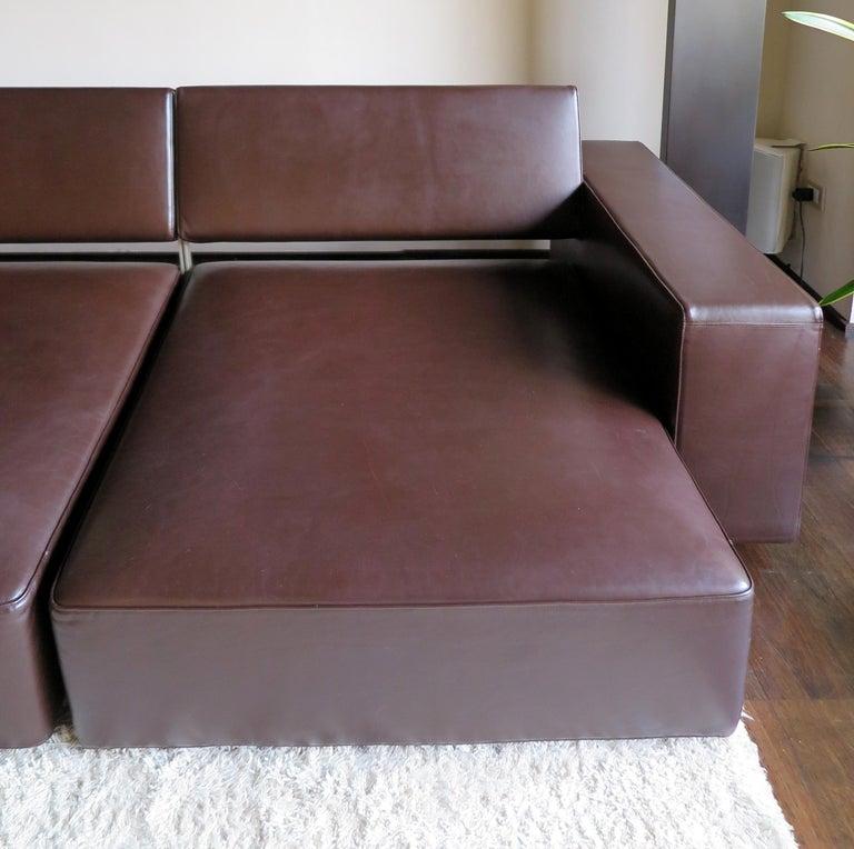 Paolo Piva Italian Modern Leather Sofa Model Andy for B&B Italia, 2002 For Sale 3