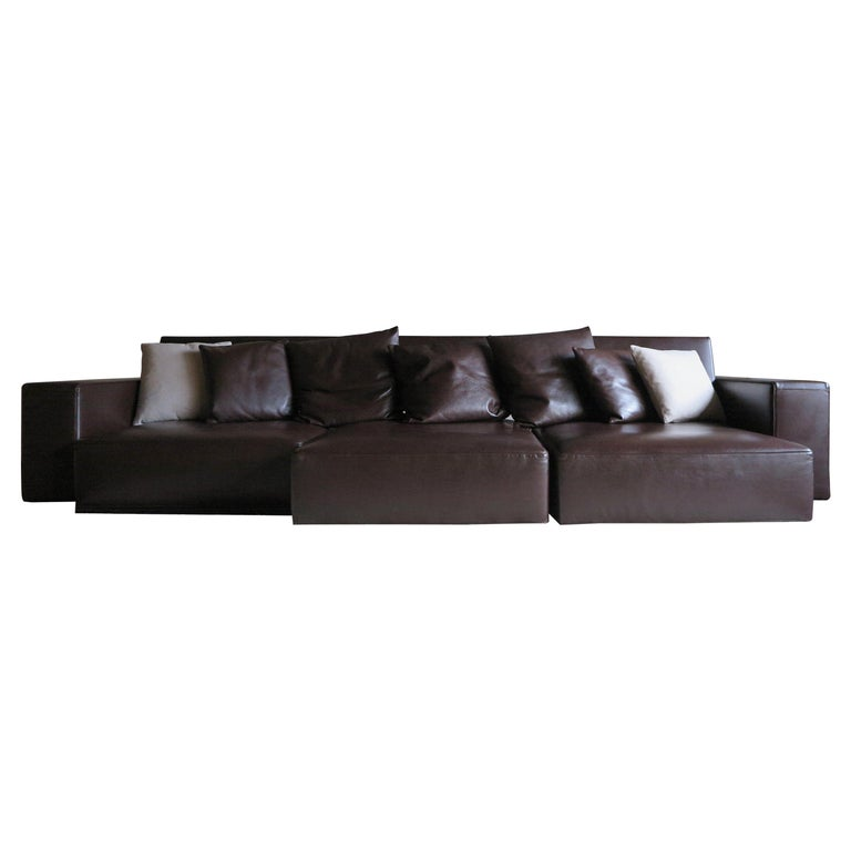 Paolo Piva Italian Modern Leather Sofa Model Andy for B&B Italia, 2002 For Sale