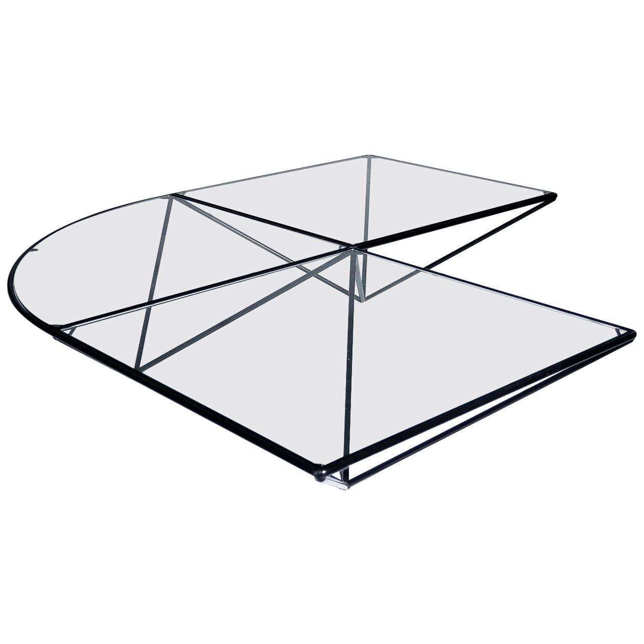 "Paolo Piva Style ""Alanda"" Pyramid Coffee Table 80's Design"