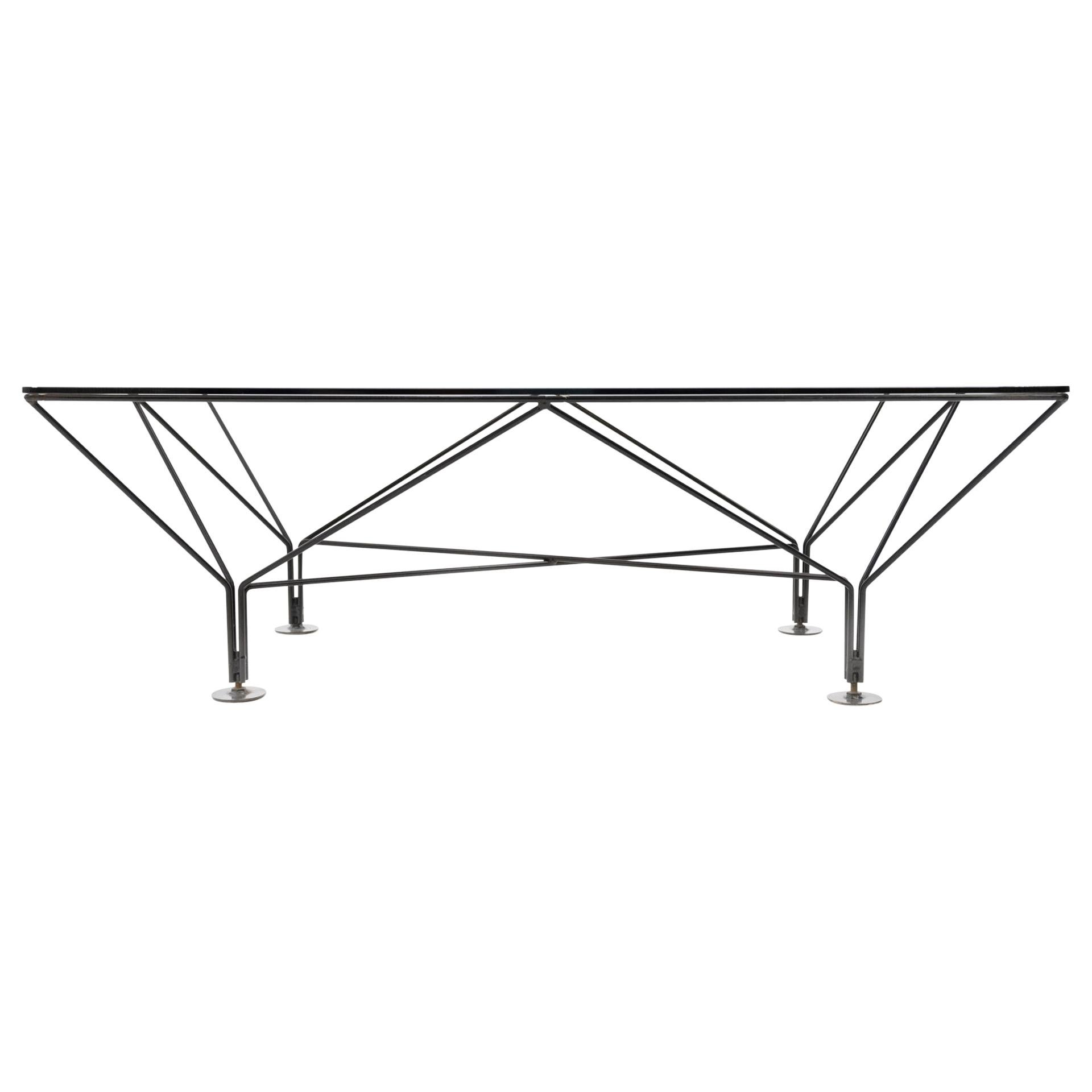 Paolo Piva Style Smoked Glass Coffee Table, 1980s